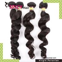Top 7A grade Peruvian virgin human Natural wave hair extensions free Shipping 2pcs/lot