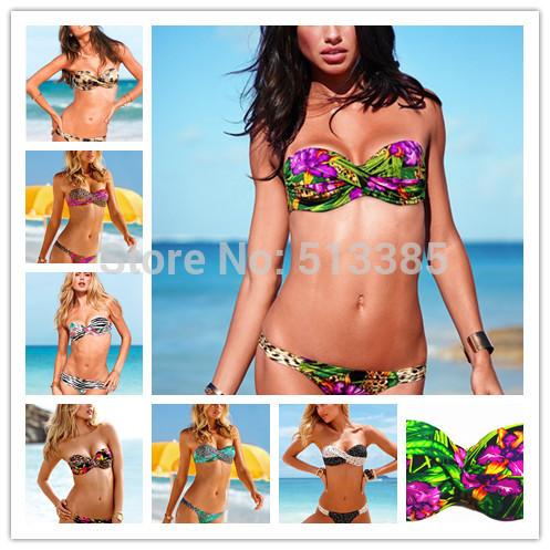 Big Cup New In 2014 Floral Print Swimsuit For Women, bikini swimwear monokini bikinis beachwear bathing suits LP(China (Mainland))