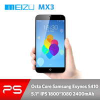 "5.1""  Meizu MX3 2G RAM 16GB ROM 2.0/8.0MP 3G GPS BT  Octa Core Exynos 5410 Slim smart phone with Flyme3.0 base on Android 4.2"