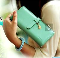 2014 new arrival fashion lady women's purse hot sale drawnstring Heart pendant  long wallet handbag,card holders 5 colors gift
