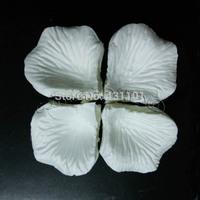 MIC 2000pcs Artificial Silk Rose Petals Wedding Petal Flowers Wedding Events Accessories 5cm White