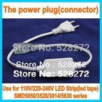 Free Shipping 20pcs/lot,SMD5050/3528 Flexible LED strip power plug (Connector)110v/220-240v led tape U.S/ EU power plug