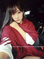 Autumn and winter warm wool knit scarf knit scarves fringed shawl!FREE SHIPPING