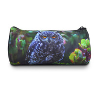 Hot selling!!! green owl printed round pencil case bag all over sublimation printing animal small bags, Bistar Gaxaxy BBP115P