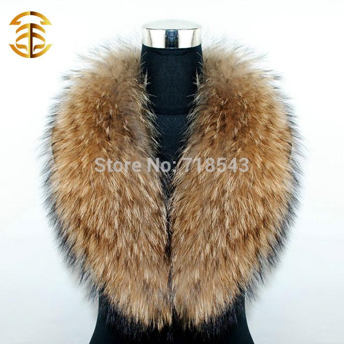 Col de fourrure d'hiver& Écharpe féminine's real fourrure de raton laveur fourrure de raton laveur chapeau et une écharpe pour chapeaux, vente chaude écharpe de fourrure