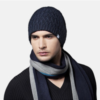 Kenmont  Men Male Winter Warm Wool Acrylic Outdoor Earflap Ski Hat Knit Solid Color Beanies Cap Gift 1180