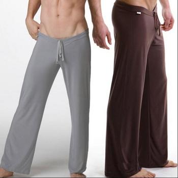 men's yoga Брюки sleep Низs Атлас so comfortable Шелк Материал Male trousers ...