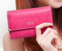 new fashion hot lady women Retro purse clutch wallet simple medium card holder bag handbag free shipping gift
