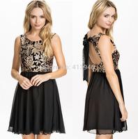 2015 New fashion casual women's lace dress Vestido Moda Patry  sexy dress work dress European Style Slim dress vestito
