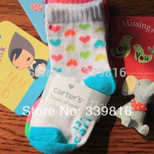 12 Pairs/lot Wholesale! Cute Toddler/Baby Boy/Girl's 12M-24M Original Carters Cotton Sock(China (Mainland))