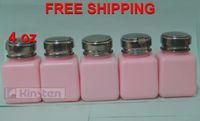 wholesale 4oz pink Alcohol bottle (10pcs/lot) Cleaning Liquid Bottle pump dispenser bottle box FREE SHIPPING