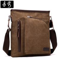 Mens Brown Vintage Shoulder Bag Canvas Messenger Bag men BFK010971