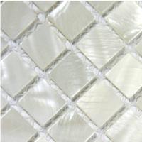 Mosaics white Mother of Pearl tile backsplash kitchen 4/5 in. squared bathroom flooring wall mirror design mesh 12x12 shell tile