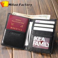 New Arrivle Fashion Luxury Leather Passport Holder Business Men wallet Designer Genuine Leather Purse Passport case
