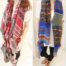 2014 Big size Bohemia national trend scarf female rhombus geometry fashion scarf women free shipping(China (Mainland))