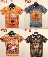 New fashion 2014 men 3d printing T-shirt palace vintage retro 3d printed fashion brand tshirt for men SST18