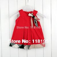 Hot sale cute dress,uk design kids classic princess dress girls summer brand high quality clothing free shipping retail 3color
