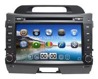 "8"" Kia Sportage 2011 2012 Car DVD Player with GPS Bluetooth Radio ipod TV Russian language 3G Free GPS map+ Free shipping"