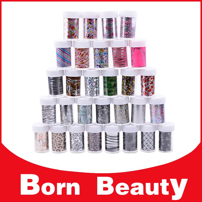 35Designs Nail Transfer Foils Stickers, 4cmX100cm(12pcs/lot),DIY Nail Art Wraps Decals,DIY Nail Beauty Decals Craft Accessories(China (Mainland))