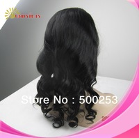 100% Brazilian virgin hair silk top 4x4 full lace wig beautiful body curl