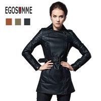 New 2014 leather jacket women winter trench women's coat fashion outerwear coats pu jacket women brand designed plus size 3XL