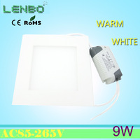 Freeship 9w led panel lighting AC85-265V ,SMD2835, Alumium,Warm /Cool white recessed light,indoor lighting led ceiling light LP2