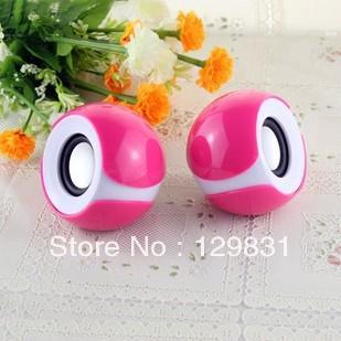 A pair of big eye Table Model mini Speaker for Laptop USB2.0 Portable Mobile Phone Subwoofer mini Speaker(China (Mainland))