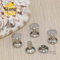 100pcs 8*4mm Round Double Cap Rivet Stud Collision Nail Metal Spike Rock Leathercraft Shoes Bag Belt Garment Bracelet #GZ015-8S
