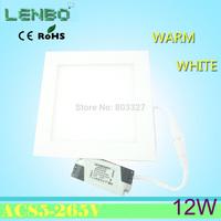 Ultra thin design 12W LED ceiling recessed light grid downlight / square panel light 145mm, 1pcs/lot free shipping LP2