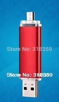 Wholesale Custom OTG Usb flash drive memory u disk, 1GB/2GBb/4GBb/8GB/16GB/32GB, for Android Phone  50PCS/Lot  Free shipping