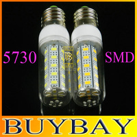 Waterproof SMD 5730 E27 12w led corn bulb lamp, 5730 36LED Warm white /white,5730 SMD led lighting,free shipping