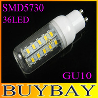 Factory directsale New arrival SMD 5730 GU10 led corn bulb lamp, 12w 36LED Warm white /white led lighting,free shipping