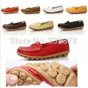 Hoge kwaliteit vrouwen enkel schoenen echt leer kantoor werk schoenen vrouwelijke voorjaar platte ballerina's verpleegkundige schoenen vrouw mocassins