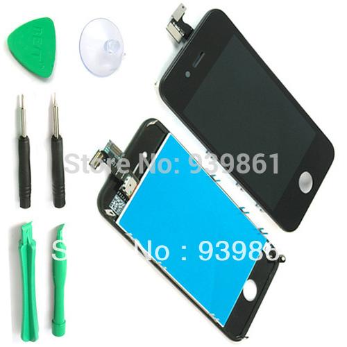 Für iphone 4 4g AT& T gsm schwarz lcd display+ touchscreen digitizer ersatz Teile& Hilfsmittel montage