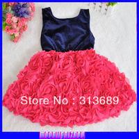 2014 new design Kids lace bow Sling  toddler  dresses  evening dress 174110061 -1