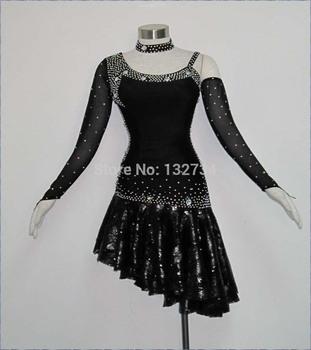 Hei 223 verkauf weibliche latein kleid neue konkurrenz fransen latein