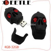 memory flash drive usb pen driver usb flash easycap usb 2.0 skull usb flash memory card 4gb 16gb 32gb 8gb