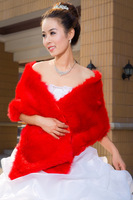 2013 wrap wedding bride wedding fur shawl cape Red cape wedding dress winter cape