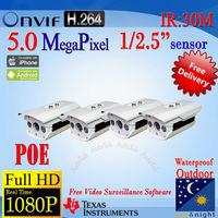 DHL Free Ship+Bulk Sale&Price! AOTE CCTV HD 2592*1920P(5MP)/2048*1536(3MP)/1920*1080P Network IP Camera P2P Motion Detect Alarm