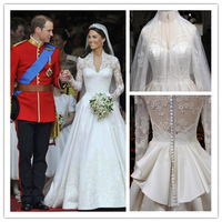 2014 Gossip.H All sizes Personal custom Wedding dress autumn and winter the quality of luxury big train honourable customize