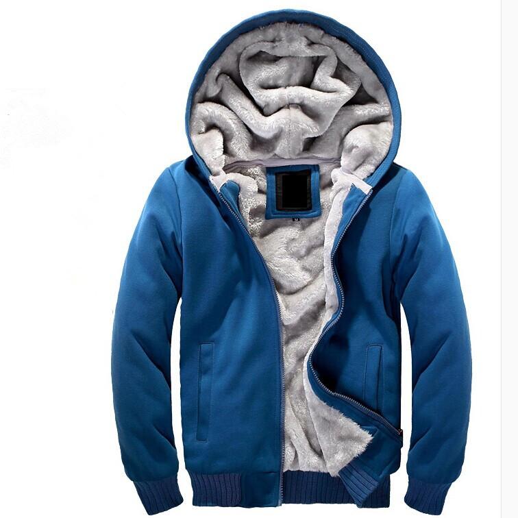 Die neue/gute qualität Winter 2014 männer warme mantel plus dicke samt Freizeit wilden herrenmode pullover schlank m- xxxl