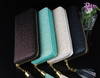 New 2014 Women Brand PU Leather Wallets Occident Style Embossing Pattern Purse Female Clutch Bags 5 Color  B0078