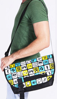 High quality flap cover colorful printing shoulder messenger bag for men, Korea TACCU brand, TSB602