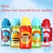 Chokecherry Children Cartoon Animal Straw Cup Kids Water Bottle Drinking Cup Leak Proof Sports Bottles Free Shipping(China (Mainland))