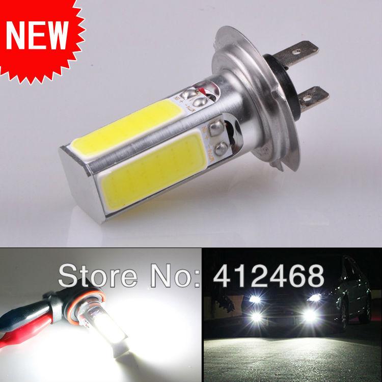 Free Shipping 2 Pcs Car 20 watt H7 LED Pure White Parking Head Fog Light Auto Lamp Bulb 12V COB New Products(China (Mainland))