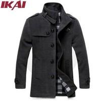 AK003-4.5 Men Wool Coat Male Autumn Winter Warm Quality Solid Parka Slim Fit Long Jacket  Man Winter Jacket