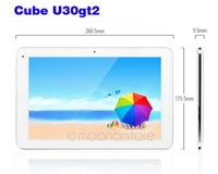 10.1 inch Cube U30GT2 RK3188 Quad Core 1.6GHz 2GB 32GB Android 4.1 HDMI Bluetooth Dual Camera 5.0MP AF  DA0884A1
