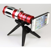 20x Zoom Telescope Phone Camera Lens Kit Tripod Case for Iphone 4s 4
