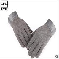 Thick Warm winter gloves Touch screen mobile phone Touch Mens Glove