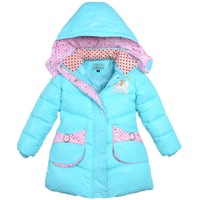[CA] Grils Winter clothing girls jacket coat children down jacket Down & Parkas baby winter clothes girl casual clothing
